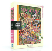 New York Puzzle Company New York Puzzle Co. The New Yorker: Day at the Zoo Puzzle 1000pcs