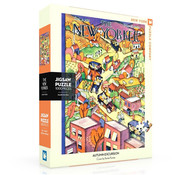 New York Puzzle Company New York Puzzle Co. The New Yorker: Autumn Excursion Puzzle 1000pcs