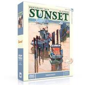 New York Puzzle Company New York Puzzle Co. Sunset: Fishing Boat Puzzle 500pcs