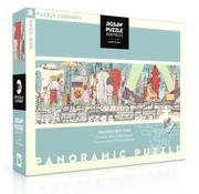 New York Puzzle Company New York Puzzle Co. MTA: Walking New York Panoramic Puzzle 1000pcs