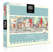 New York Puzzle Company New York Puzzle Co. Walking New York Panoramic Puzzle 1000pcs