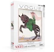 New York Puzzle Company New York Puzzle Co. Vogue: Lady on a Zebra Puzzle 500pcs