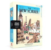 New York Puzzle Company New York Puzzle Co. The New Yorker: Ultimate Destination Puzzle 1000pcs