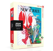 New York Puzzle Company New York Puzzle Co. The New Yorker: Seaside Cafe Puzzle 500pcs