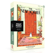 New York Puzzle Company New York Puzzle Co. The New Yorker: Dog Behind the Door Puzzle 1000pcs