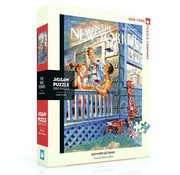 New York Puzzle Company New York Puzzle Co. The New Yorker: Summer Getaway Puzzle 500pcs