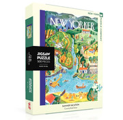 New York Puzzle Company New York Puzzle Co. The New Yorker: Summer Vacation Puzzle 500pcs