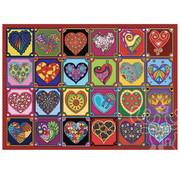 JaCaRou Puzzles JaCaRou Quilted Hearts Puzzle 1000pcs