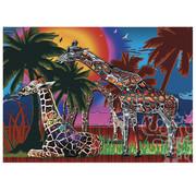 JaCaRou Puzzles JaCaRou Rainbow Giraffes Puzzle 1000pcs