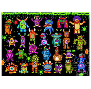 JaCaRou Puzzles JaCaRou 25 Little Monsters and 1 Chicken Puzzle 1000pcs