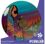 Canadian Art Prints Indigenous Collection: Aurora Drummer Round Puzzle 500pcs