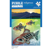 Canadian Art Prints Indigenous Collection: Salmon Fall Run Family Puzzle 500pcs