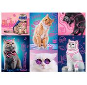 Trefl Trefl Neon Color Line: Super Cats Puzzle 1000pcs