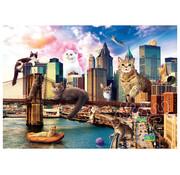 Trefl Trefl Funny Cities: Cats in New York Puzzle 1000pcs