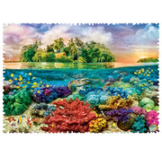 Trefl Trefl Crazy Shapes! Tropical Island Puzzle 600pcs