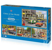 Gibsons Gibsons Cities of the World Puzzle 4 x 500pcs