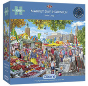 Gibsons Gibsons Market Day, Norwich Puzzle 1000pcs