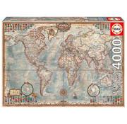 Educa Borras Educa Political Map of the World Puzzle 4000pcs