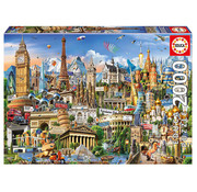 Educa Borras Educa Europe Landmarks Globe Puzzle 2000pcs
