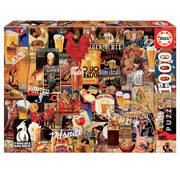 Educa Borras Educa Vintage Beer Collage Puzzle 1000pcs