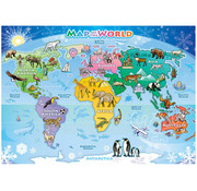 Cobble Hill Puzzles Cobble Hill World Map Tray Puzzle 35pcs