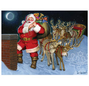 Cobble Hill Puzzles Cobble Hill Santa by the Chimney Tray Puzzle 35pcs