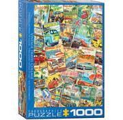 Eurographics Eurographics Vintage Travel Collage Puzzle 1000pcs
