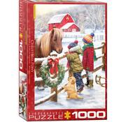 Eurographics Eurographics Christmas Pony Puzzle 1000pcs