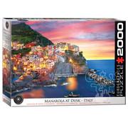 Eurographics Eurographics Manarola at Dusk, Italy Puzzle 2000pcs