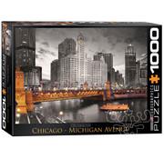 Eurographics Eurographics Chicago, Michigan Avenue Puzzle 1000pcs