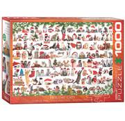 Eurographics Eurographics Holiday Cats Puzzle 1000pcs