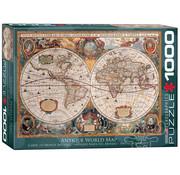 Eurographics Eurographics Antique World Map (Orbis Geographica) Puzzle 1000pcs