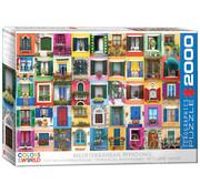 Eurographics Eurographics Mediterranean Windows Puzzle 2000pcs