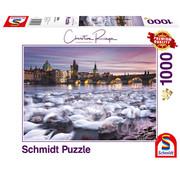 Schmidt Schmidt Prague: Swans Puzzle 1000pcs