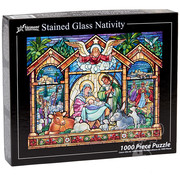 Vermont Christmas Company Vermont Christmas Co. Stained Glass Nativity Puzzle 1000pcs