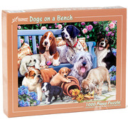 Vermont Christmas Company Vermont Christmas Co. Dogs on a Bench Puzzle 1000pcs