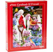 Vermont Christmas Company Vermont Christmas Co. Cardinal & Friends Puzzle 550pcs