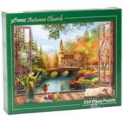 Vermont Christmas Company Vermont Christmas Co. Autumn Church Puzzle 550pcs