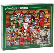 Vermont Christmas Company Vermont Christmas Co. Santa's Workshop Puzzle 550pcs