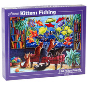 Vermont Christmas Company Vermont Christmas Co. Kittens Fishing Puzzle 550pcs