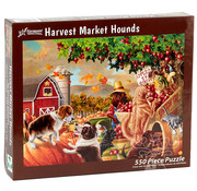 Vermont Christmas Company Vermont Christmas Co. Harvest Market Hounds Puzzle 550pcs