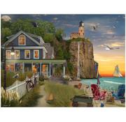 Vermont Christmas Company Vermont Christmas Co. Beachside Lighthouse Puzzle 550pcs