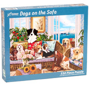 Vermont Christmas Company Vermont Christmas Co. Dogs on the Sofa Puzzle 550pcs