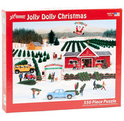 Vermont Christmas Company Vermont Christmas Co. Jolly Dolly Christmas Puzzle 550pcs