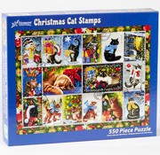 Vermont Christmas Company Vermont Christmas Co. Christmas Cat Stamp Puzzle 550pcs