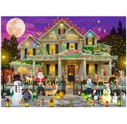 Vermont Christmas Company Vermont Christmas Co. Happy Holidays Puzzle 1000pcs