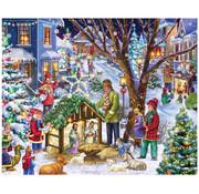 Vermont Christmas Company Vermont Christmas Co. Neighborhood Nativity Puzzle 1000pcs