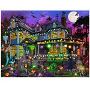Vermont Christmas Company Vermont Christmas Co. Halloween House Puzzle 550pcs