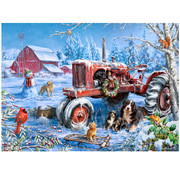 Vermont Christmas Company Vermont Christmas Co. Christmas on the Farm Time Puzzle 1000pcs