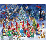 Vermont Christmas Company Vermont Christmas Co. Going Gnome for Christmas Time Puzzle 1000pcs